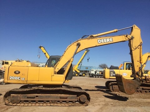 Side of Used Deere Excavator for Sale