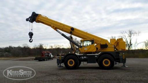 Side view of a Used Grove Rough Terrain Crane w/Boom