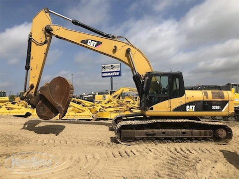 Side of Used Caterpillar Crawler Excavator for Sale