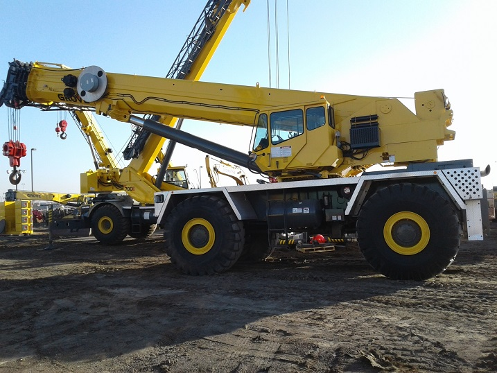 Side view of a Used Grove Rough Terrain Crane