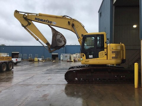 Side of Used Komatsu Crawler Excavator ready for Sale