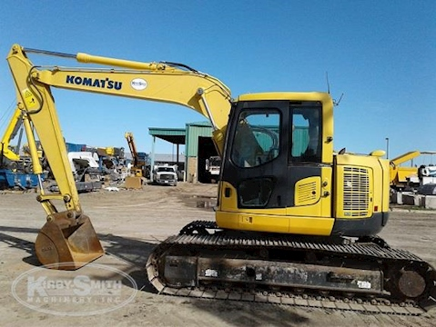 Side of Used Komatsu Excavator in Yard for Sale