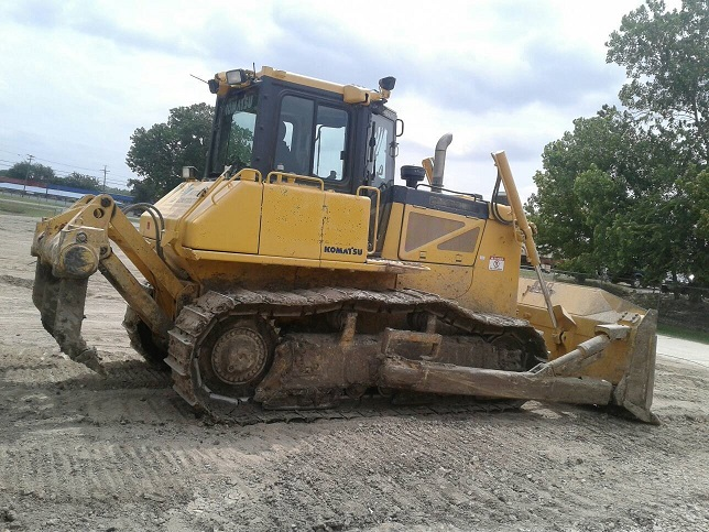 Used Bulldozer side view