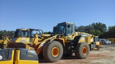 Side of Used Komatsu Wheel Loader for Sale