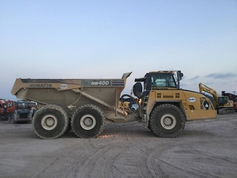 Side of Used Komatsu Off-Highway Truck for Sale