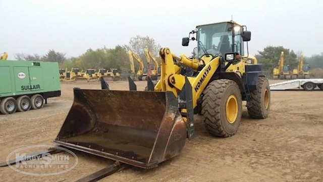 Used Komatsu Loader in Yard Ready for Sale