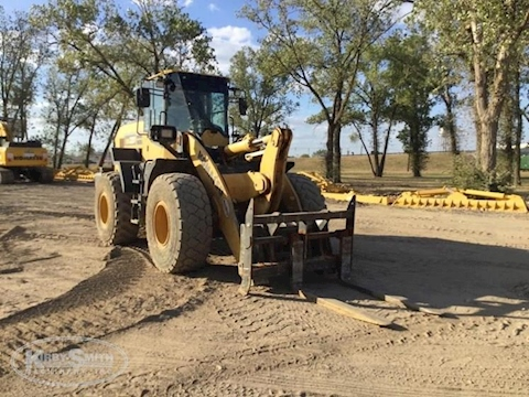 Used Komatsu Wheel Loader in yard ready for sale