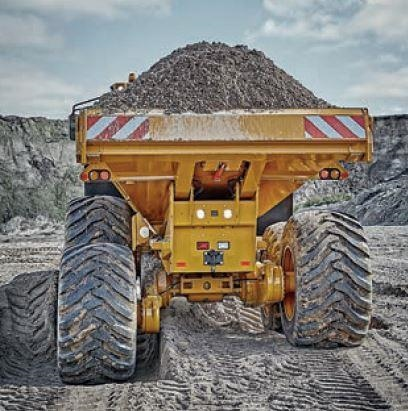 New Hydrema Dump Truck with dirt