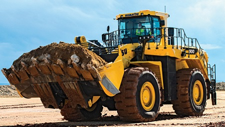 A redesigned quarry loader, Komatsu WA900-8, will help in being efficient.