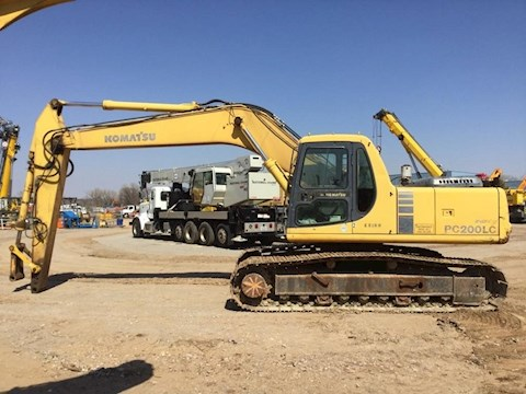 Side of Used Komatsu Crawler Excavator for Sale