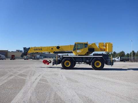 Side of Used Grove Rough Terrain Crane