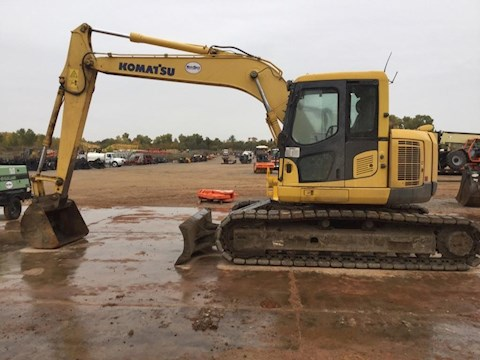 Side of Used Crawler Excavator Ready for Use