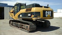 Back end of Used Caterpillar Excavator