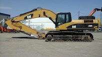 Side view of Used Caterpillar Excavator