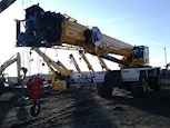 Used Grove Rough Terrain Crane waiting for use
