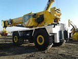Used Grove Rough Terrain Crane under blue sky