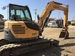 Side of Used Compact Excavator for Sale