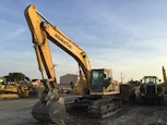 Front of Used Excavator in yard for Sale