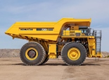 Side of New Komatsu Dump Truck for Sale